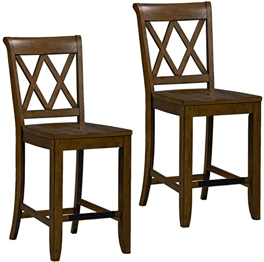 Amazon.com: Standard Furniture Vintage Counter Height Stool Brown .