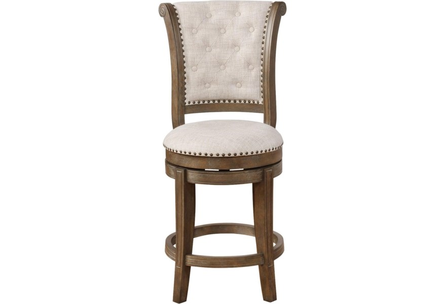 Crown Mark Bar Stools CM Traditional Swivel Counter Height Bar .