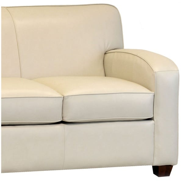 Shop Made in USA Hawthorn Cream Top Grain Leather Sofa Bed - On .