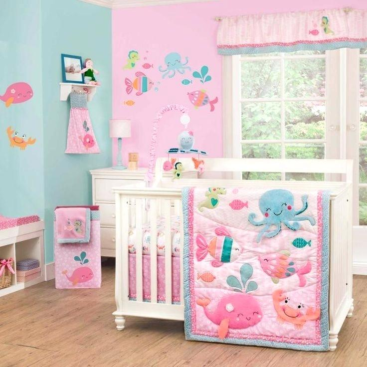 Pink Baby Bedding Sets Ocean Crib Bedding For Girls Under The Sea .