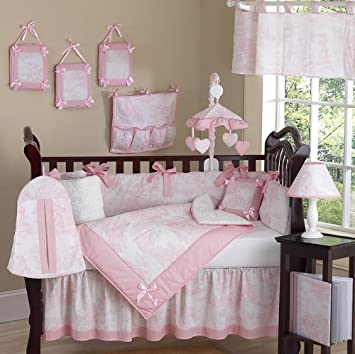 Amazon.com : Sweet Jojo Designs Pink and White French Toile Baby .