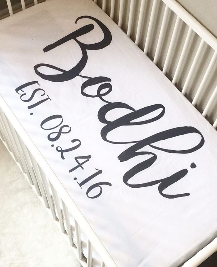 Custom name crib sheets . Best baby gift ever! Pair with Baby .