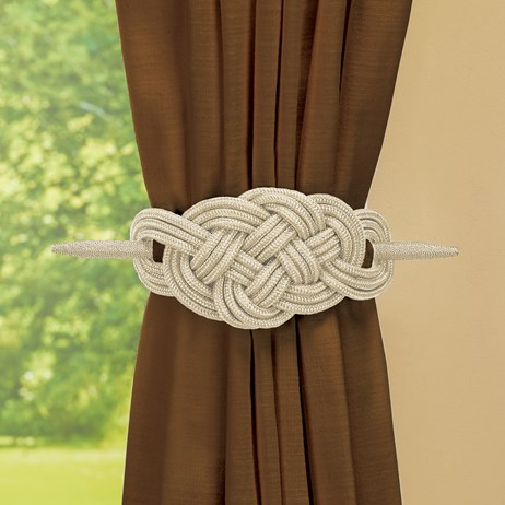 Knot-Style Curtain Tie Backs - Set of 2 | Collections Et