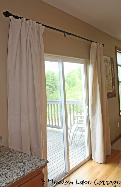 Sliding Back Door Curtains- to replace vertical blinds | Sliding .
