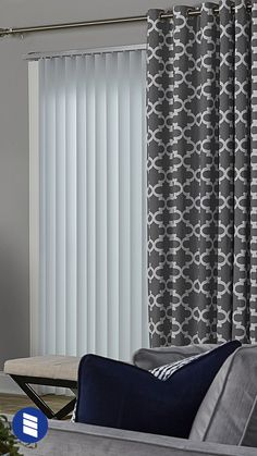 How to Hang Curtains With Vertical Blinds | Curtains with blinds .