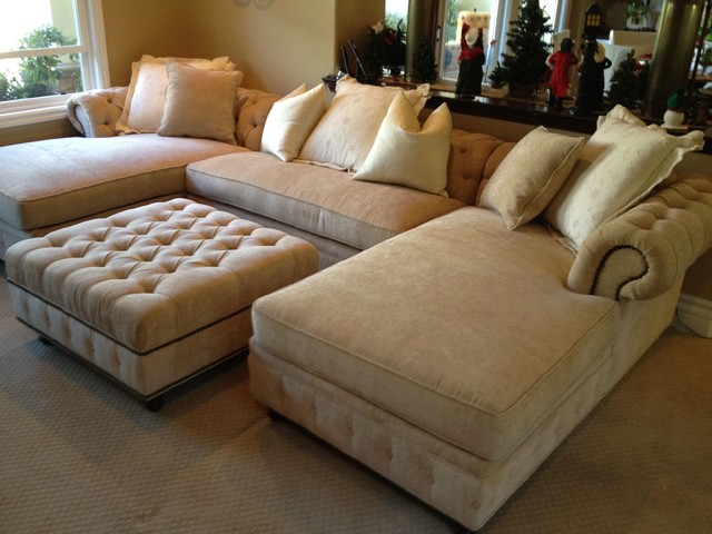 KENZIE STYLE - Chesterfield Custom Sectional Sofas - Traditional .