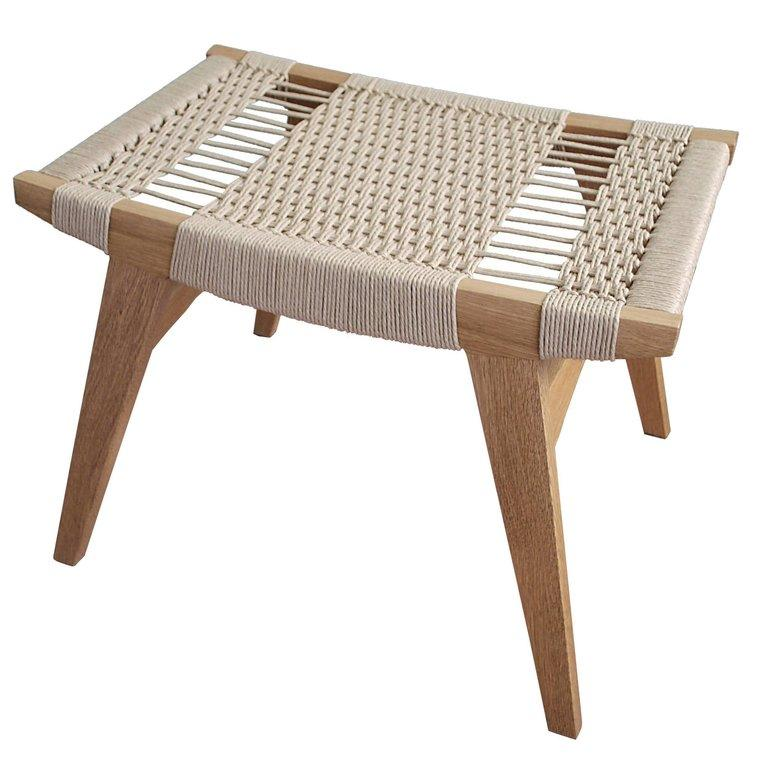 Contemporary Pi Stool, Oak Frame, Danish Cord Seat, Made in the .