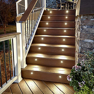 New Style DeckLights LED Recessed Deck Lights - 4 Pack by Trex .