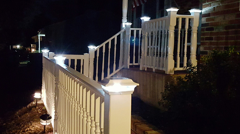 Solar Post Cap Lights for Your Deck - DecksDire