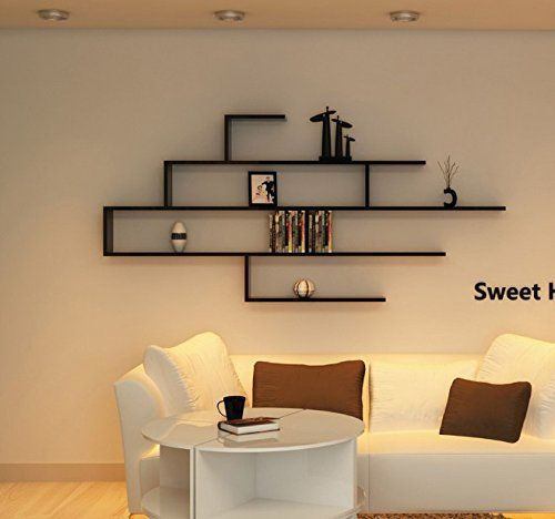 Wall Mount Floating Shelves Display Bedroom Decorative Wooden .