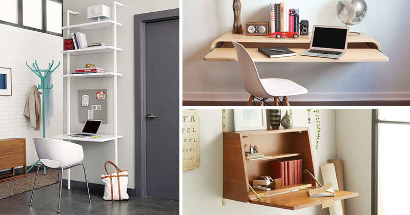 16 Wall Mounted Desk Ideas That Are Great For Small Spac