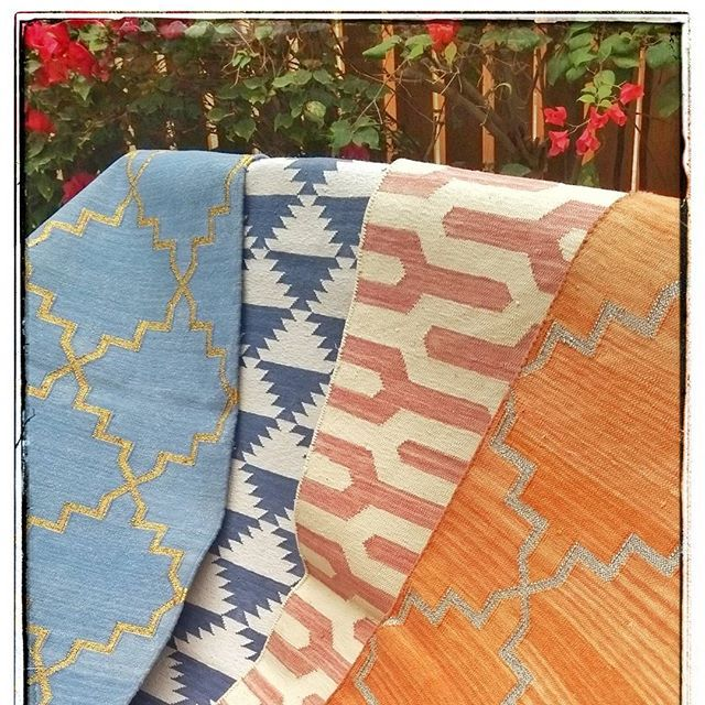 Our first Handloomed Dhurries sail out today #Dhurrie #Rugs #Dubai .