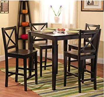 Amazon.com - 5-piece Counter Height Dining Room Set Dinette Sets .