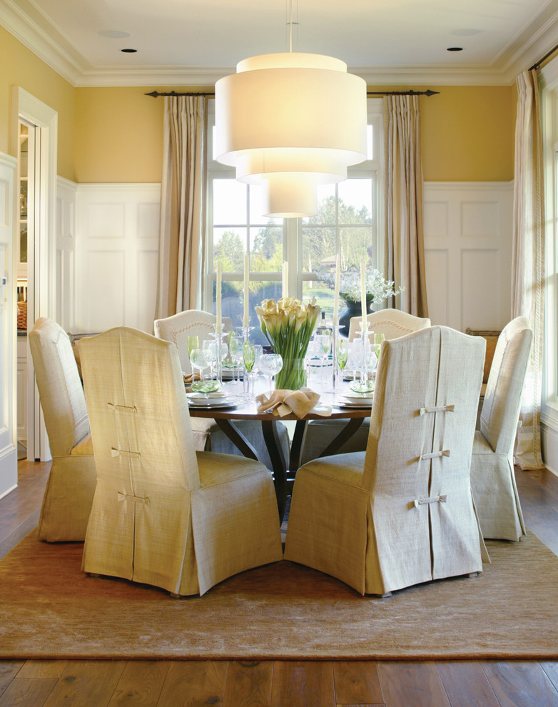 Baroque parsons chair slipcovers in Dining Room Traditional with .