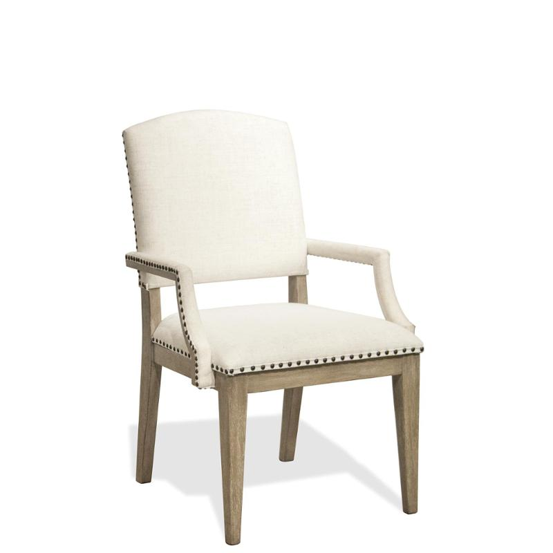 59453 Riverside Furniture Upholstered Arm Dining Chair 2 In