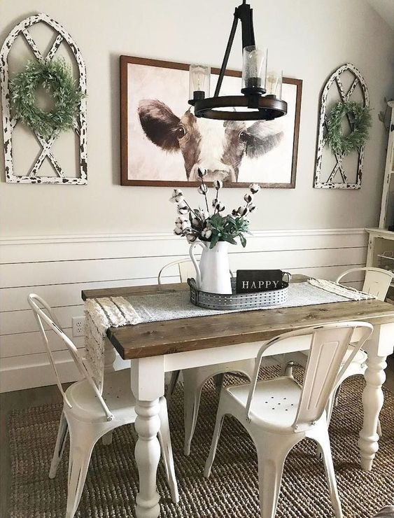 14 Cool Farmhouse Dining Room Decorating Ideas On A Budg