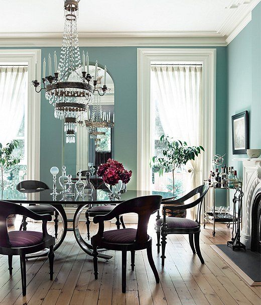 The 8 Hottest Paint Colors of the Year   Dining room blue, Dining .