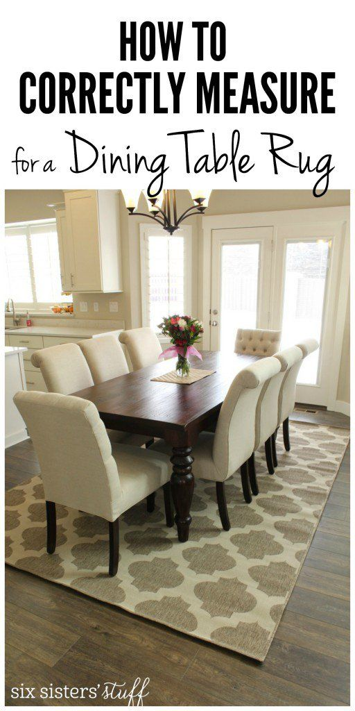 How To Correctly Measure for a Dining Room Rug | Dining table rug .