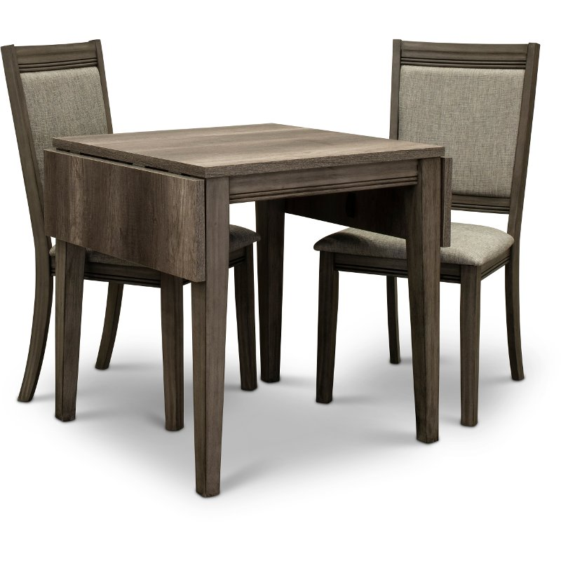 Gray 3 Piece Dining Set with Upholstered Chairs - Tanners Creek .