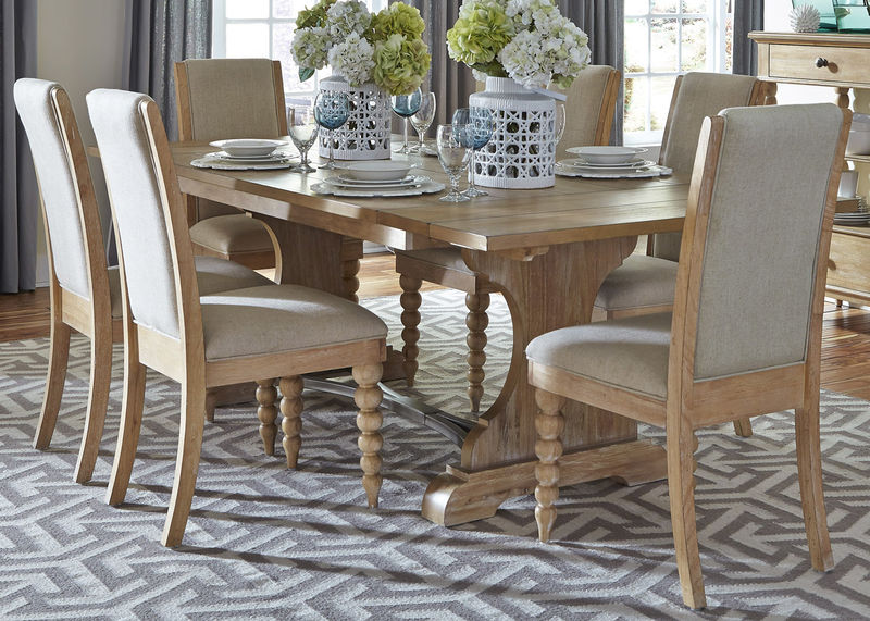 531-DR-O7TRS Harbor View Dining Room Set with Upholstered .