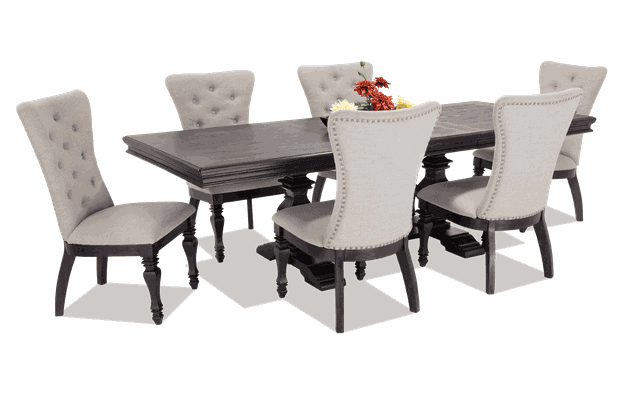 Riverdale 7 Piece Dining Set with Upholstered Chairs | Bobs.c