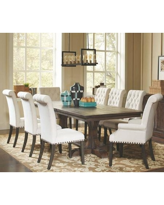 Sales for Weber Collection 107281-S9-86-83 9-Piece Dining Room Set .