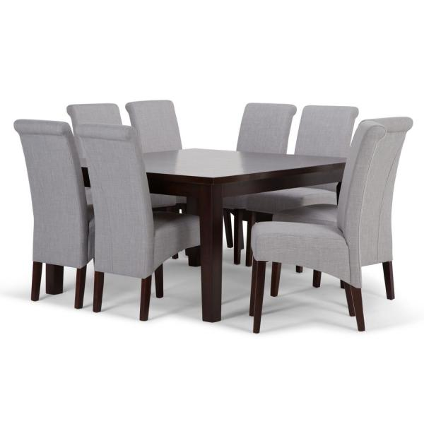 Simpli Home Avalon 9-Piece Dining Set with 6 Upholstered Dining .