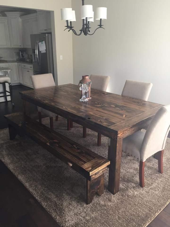 For Sale: Rustic Farm Style Wood Dining Table Furniture - This is .