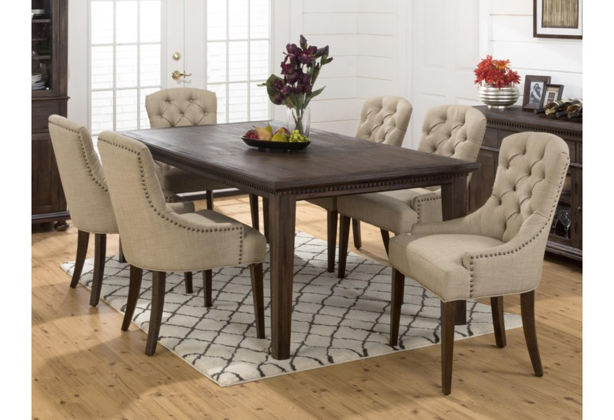 Jofran Geneva Hills Large Table and Upholstered Chair Set   Home .