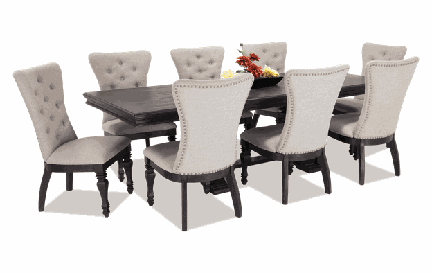 Riverdale 9 Piece Dining Set with Upholstered Chairs | Bobs.c