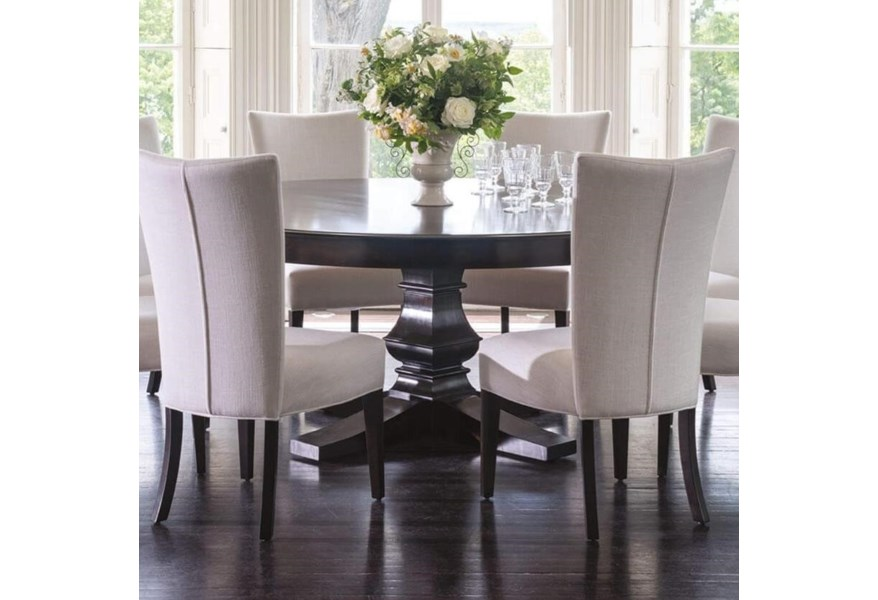 """Canadel Classic Customizable 72"""" Round Dining Table with Pedestal ."""