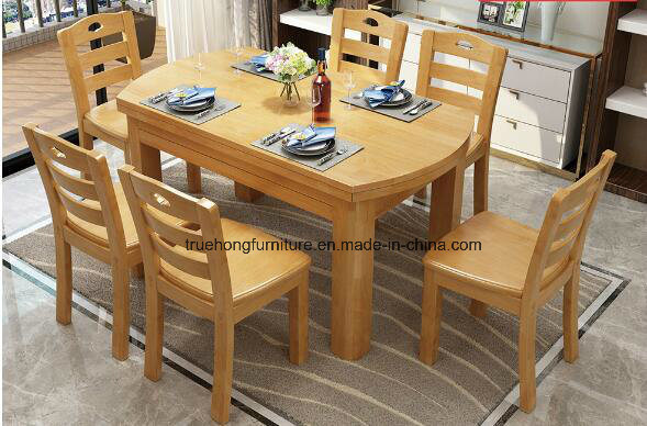 China Good Quality Solid Wood Furiture Wooden Dinner Table Set .