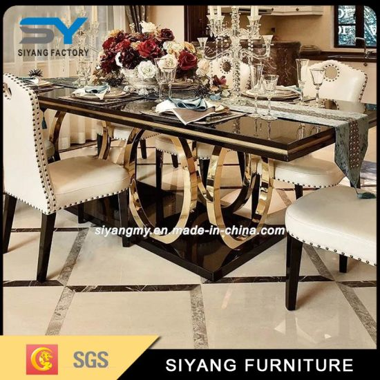 China Dining Table Set Marble Banquet Table Dinner Table - China .