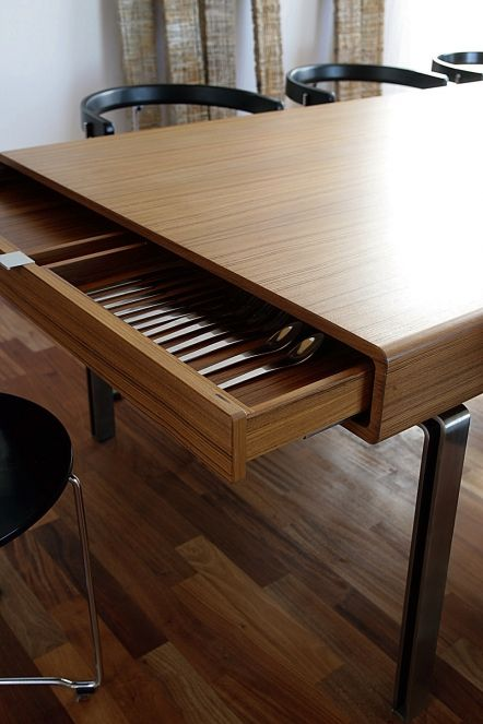 Dining Table with drawers by Interior And Furniture Architect .