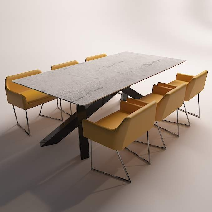 Modern Dinning Table 3D Mod