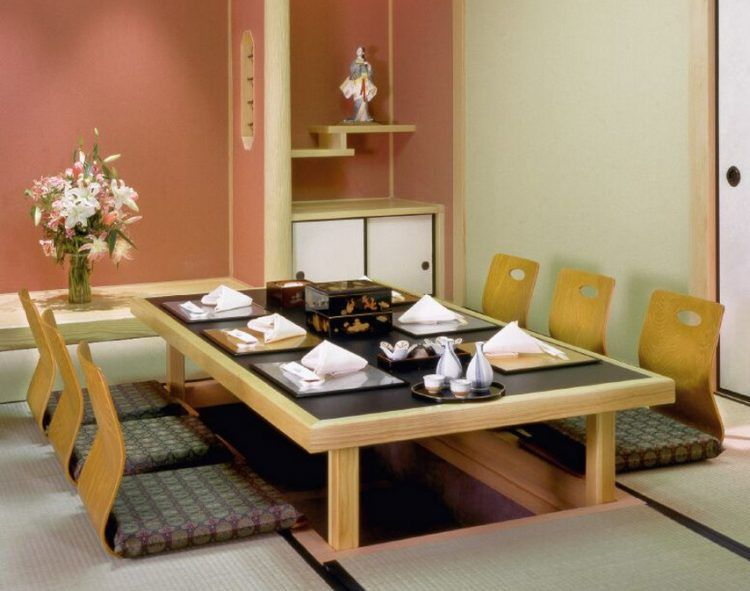 20 Trendy Japanese Dining Table Designs | Furniture sets design .