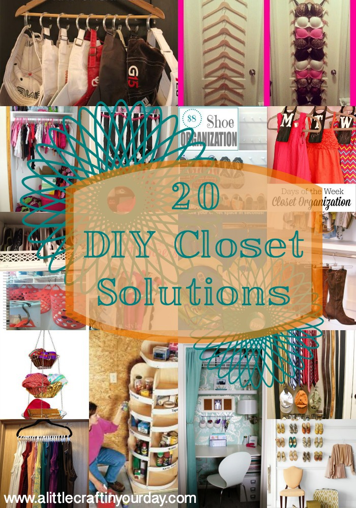 20 DIY Closet Solutions - A Little Craft In Your D