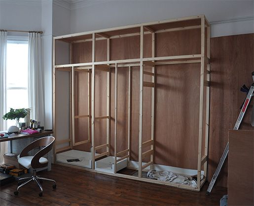 fitted wardrobe high ceiling - Google Search | Diy built in .