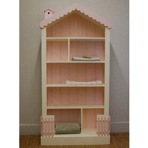 Tall Dollhouse Bookcase and Luxury Kid Furnishings Including .