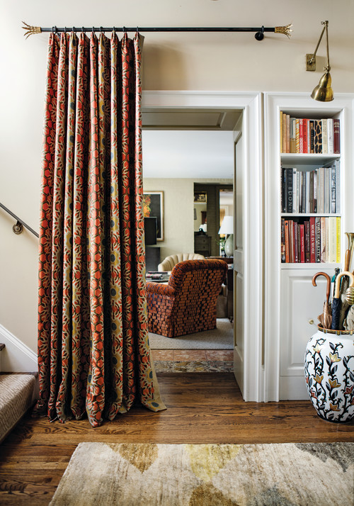 Curtains on Doorways: Creative Concealments - The Inspired Ro