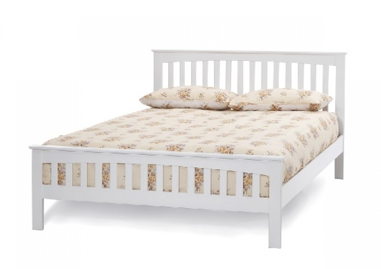 Home Decorating Pictures : White Wood Bed Frame Doub