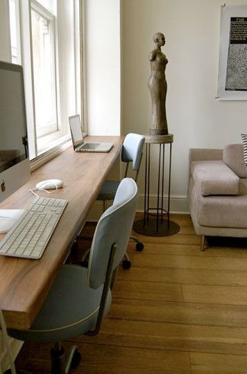 Small Space Solution: Double Desks | Guest room office, Home .