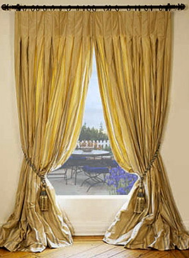 Silk Taffeta Drapes Made to Order in the USA | DreamDrapes.c