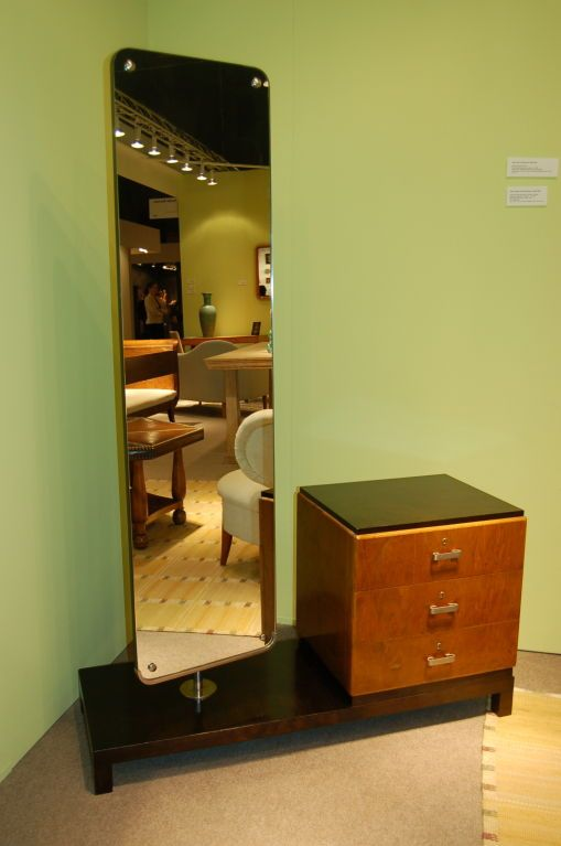 1stdibs | Dressing table and swivel mirror by Axel Einal Hjorth .