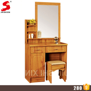 Bedroom Furniture Wooden Makeup Desk Dressing Table Mirror With .