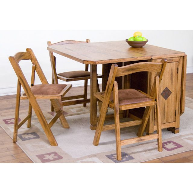 Drop Leaf Table With Folding Chairs Stored Inside: Uses and .