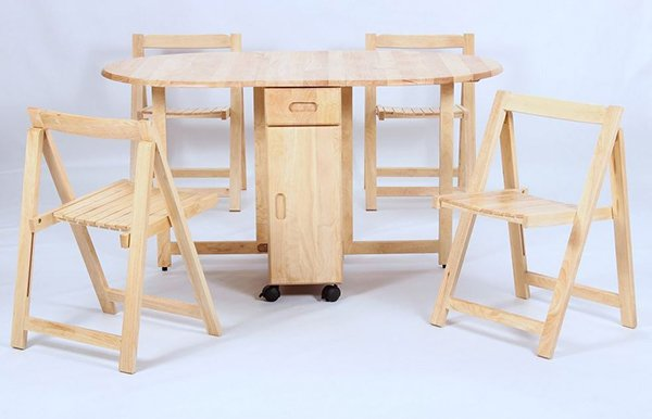 20 Drop Leaf Table with Folding Chairs | Home Design Lov