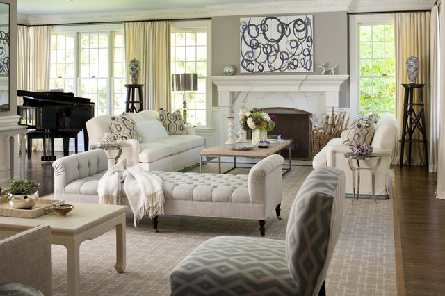 Elegant living room - Traditional - Living Room - New York - by .