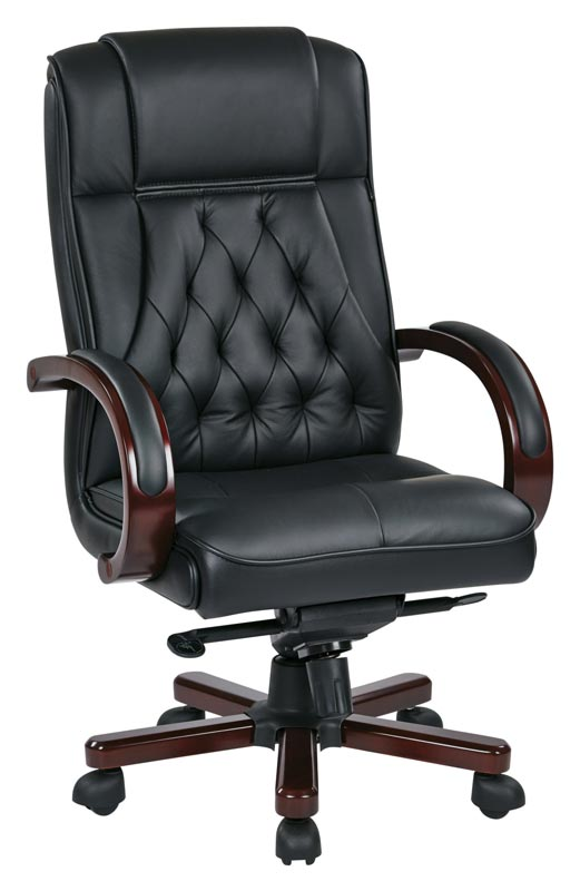 Office Star Leather Executive Chair - Twn300l-3 | Executive Office .