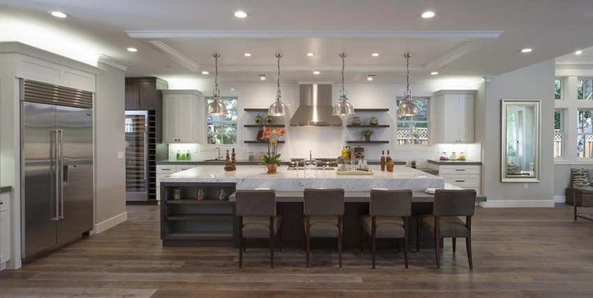 24 Large Kitchen Island Designs With Seating, Large Kitchen .
